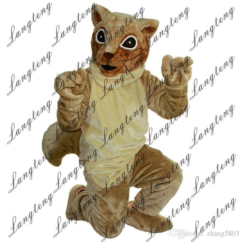 2018 Nuovi costumi della mascotte dello scoiattolo di Brown di alta qualità il vestito operato dal vestito da Halloween dell'attrezzatura del circo di Natale degli adulti Shipping011 libero