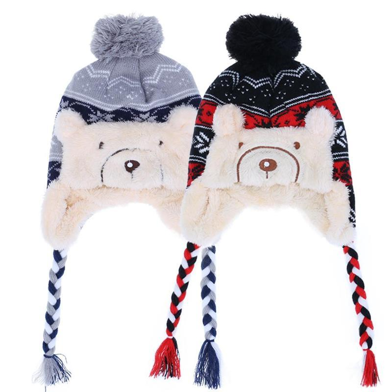 e1ff6484 2019 2017 Winter Baby Hat Warm Beanie Hats For Girls Children Animal Cat  Ear Baby Caps Crochet Knitted Hat Bonnet Enfant From Jamani3, $44.86 |  DHgate.Com