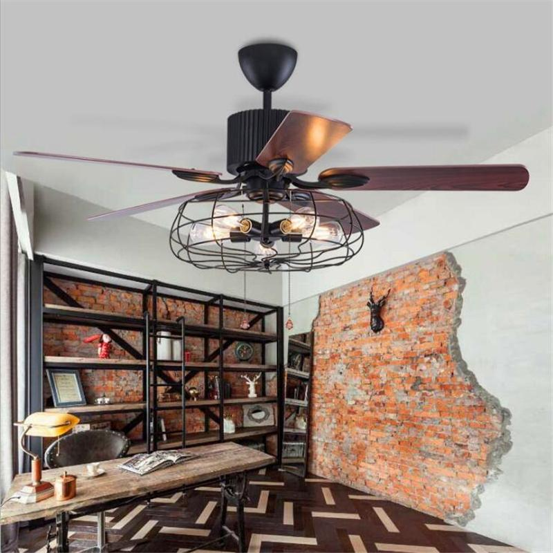 2019 42 Inch/52 Inch Loft Industrial Ceiling Fan Light Creative Dining Room  Fan Light Art Resturant Bar With Remote Control From Callaway, $424.55 |  DHgate.