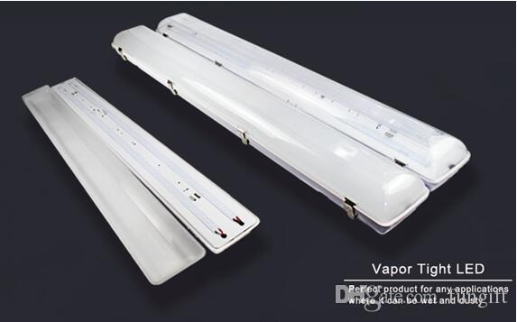 100-277V 50W 130lm/W LED Tri-Proof Light Batten Tube Explosion Proof Vapor Tight Lights Replace Fluorescent Light Fixture Ceiling