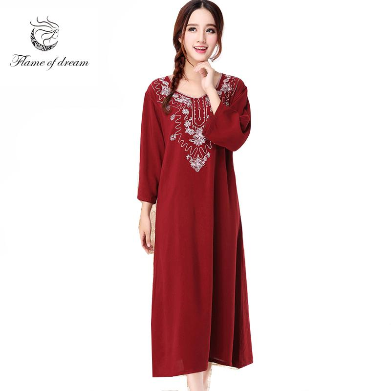 ca74502374e2 2019 Long Nightgown M 2xl Bust 100 120cm Cotton Material 2017 New Autumn  And Winter Night Gown Plus Size Sleepwear 972 From Blairi