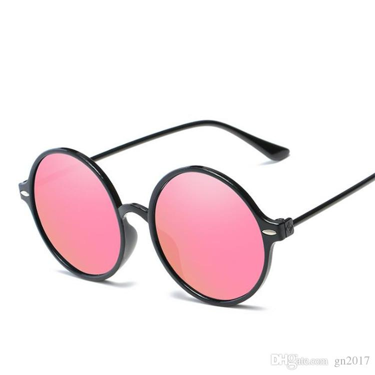 Hot Fashion Women & Men Retro Color Film Sunglasses Round Frame ...