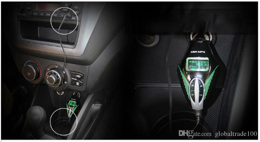 New Car Audio Stereo Radio Speaker MP3 Player FM Transmitter Modulator With LCD Screen Remote Control USB Charger T658