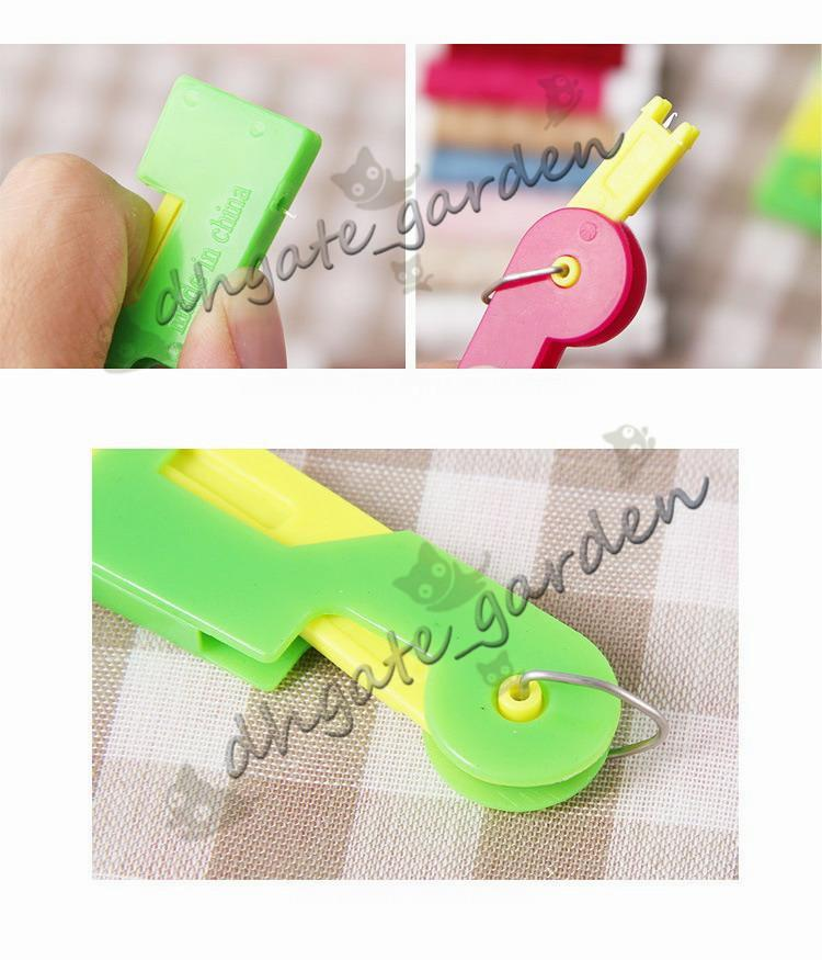 Plastic Elderly Use Automatic Skillful Sewing Needle Device Threader Thread Guide Tool Gift to Mom DHL Shipping Free