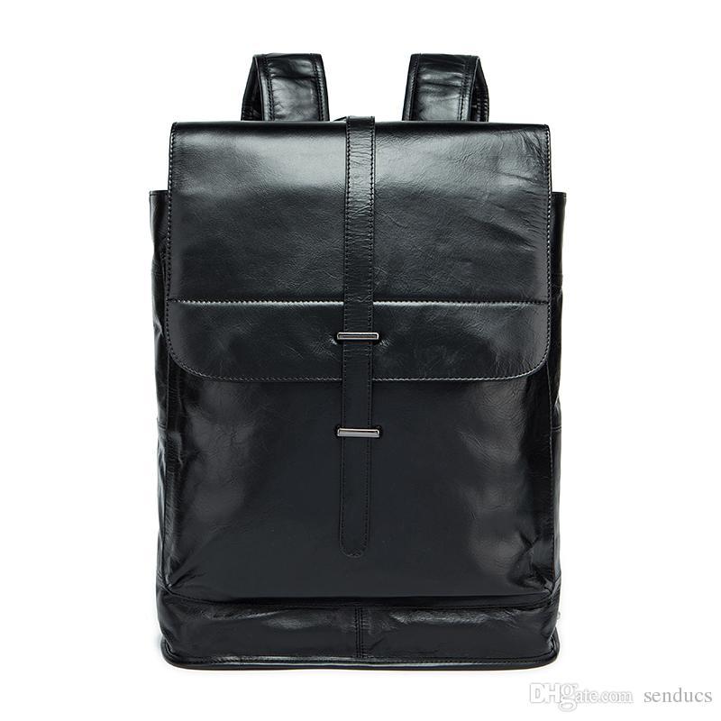 Fashionable Backpack Men And Women With Large Capacity Backpack Leather Bag  100% Genuine Leather Men Backpacks Best Backpack Designer Backpacks From  Senducs ... 003733dea13b3