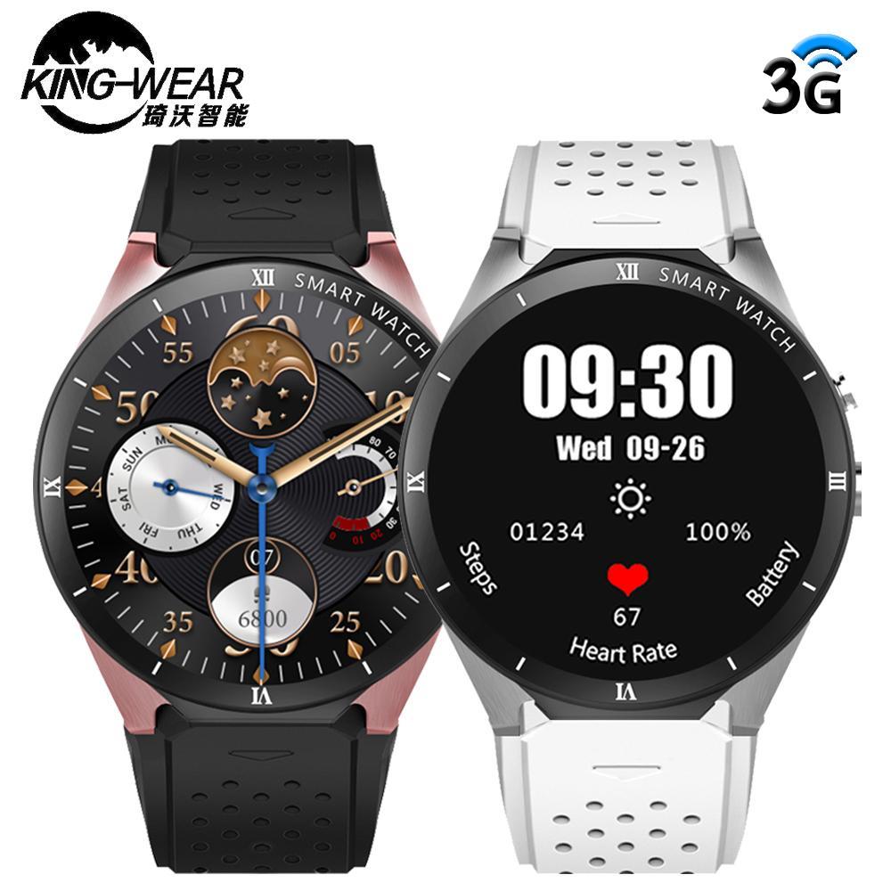 37bd07f47af Compre KINGWEAR KW88 Pro GPS Relógio Inteligente Das Mulheres Dos Homens  RAM 1 GB ROM 16 GB MTK6580 Dispositivos Wearable Android 7.0 Câmera 3G  Smartwatch ...