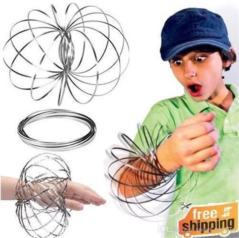 Stainless Steel Metal Flow Ring Toroflux Magic Fidget Flow Toy Arm Slinky Dynamic Amazing Flow Bracelet Funny Decompression Toys Gifts