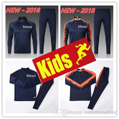 992232bd365 2019 2018 19 Messi Tracksuit New SUAREZ O.DEMBELE Soccer Suits CHANDAL  Uniforms Shirts Football A.INIES 17 18 19 Tracksuits Soccer Kit Jerseys  From ...