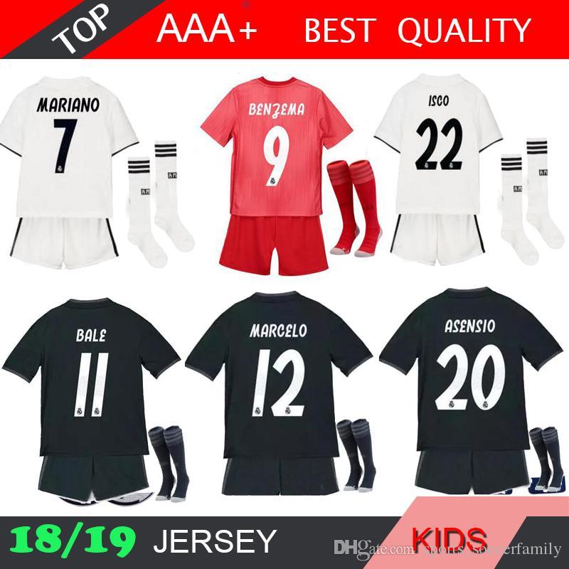 897223104 MARIANO Asensio 2019 Real Madrid RONALDO Kids Soccer Jersey Kit ...