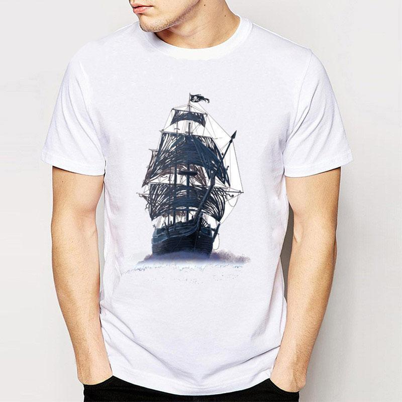 Satın Al Parça Gemi Yeni Vintage Retro Rockroll Punk Tees T Shirt
