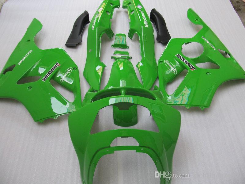 Kit carenatura moto KAWASAKI Ninja ZX-6R ZX 6R 1994 1995 1996 1997 ZX6R 94 95 96 carenature verdi ABS + 7gifts