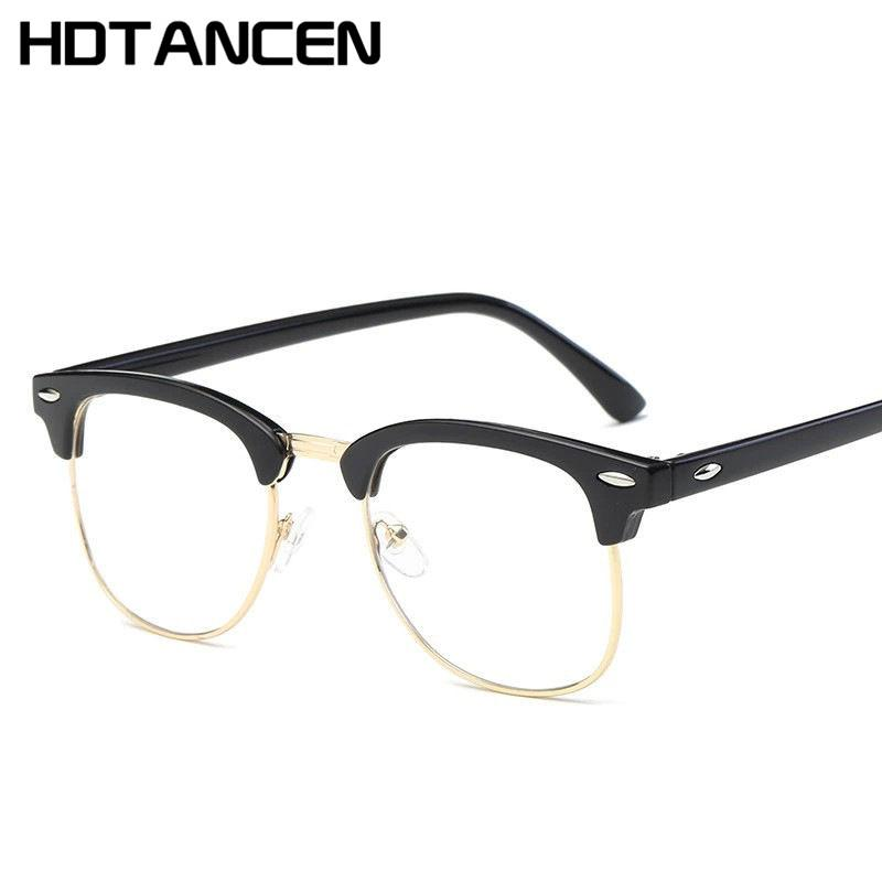 82fbd1224be HDTANCEN Spectacle Frame Men Women Fashion Optical Glasses Female Clear Lenses  Eyewear Frames Vintage Transparent Glasses Tifosi Sunglasses Cheap  Eyeglasses ...