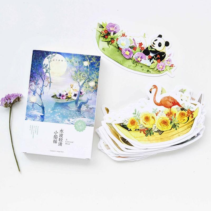 Small Animals And Flowers Boats Heteromorphism Postcard Greeting ...