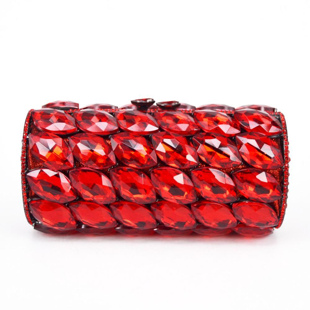 5bce8cc669d6b0 Großhandel Luxus Zylinder Diamant Clutch Beutel Frauen Partei Geldbeutel Rot  / Rosa / Pfau Blau Hochzeits Brautschulterbeutel Damen Handtaschen SC782  Von ...