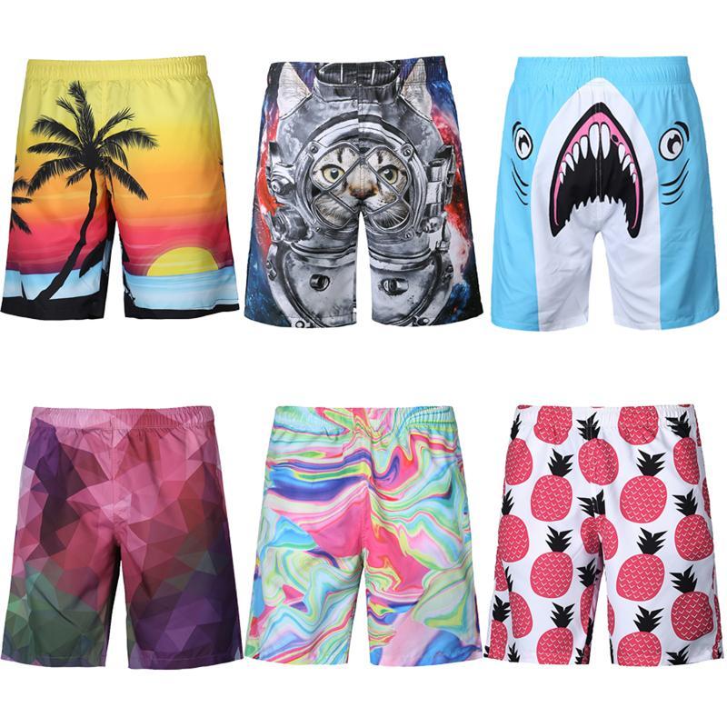 d092f442f2 2019 2018 New Men Pop Swimming Trunks Print Floral Surf Board Shorts  Swimwear Beach Sports Trunks Pants Size S XXL From Douban, $37.57 |  DHgate.Com