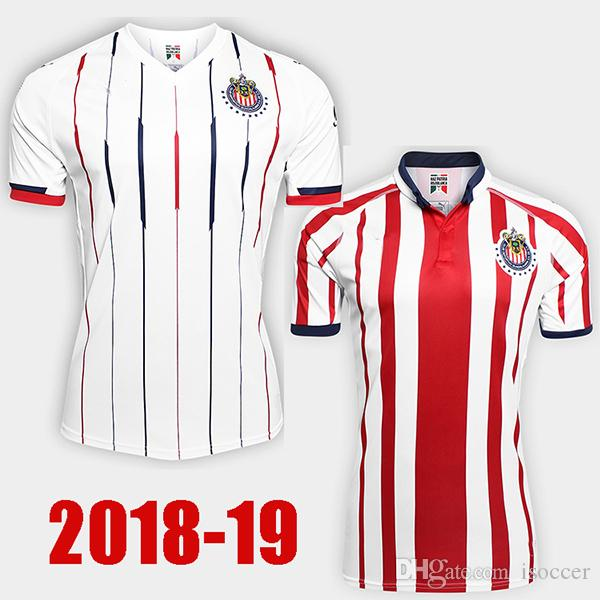 Großhandel 18 19 Liga Mx Chivas Guadalajara Rosa Grün Fußball Trikot