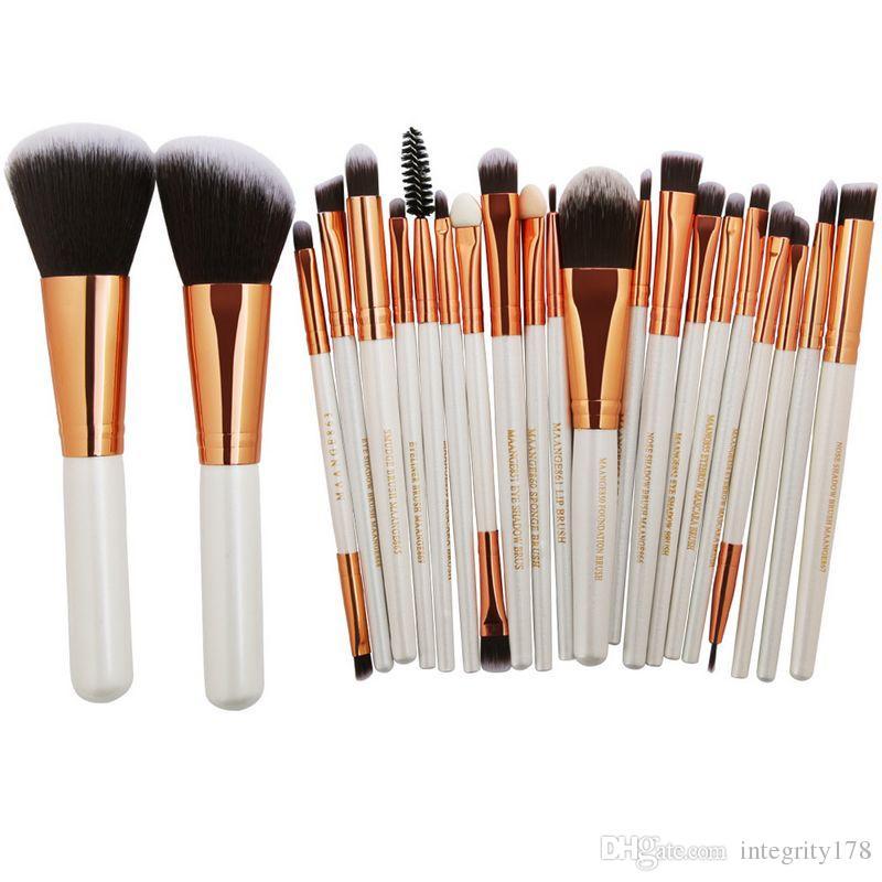 MAANGE Pro 22 шт. косметические кисти для макияжа Набор румяна тени для век бровей губ пудра макияж кисти комплект красоты основы