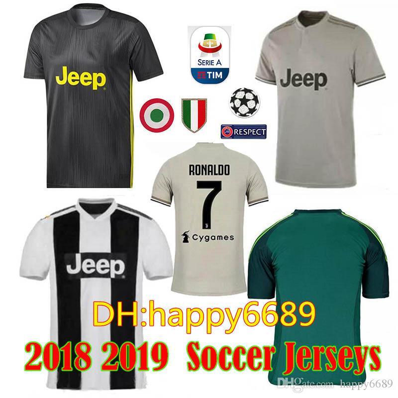 e4dd9b5f052 2018 Thai Quality RONALDO Juventus Soccer Jersey Men 18 19 7  JUVE ...