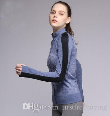 / Secado rápido Cremallera Capa Fitness Correr Gimnasio Ropa deportiva Ropa de yoga Pantalones Traje Conjunto Ropa de yoga Ropa