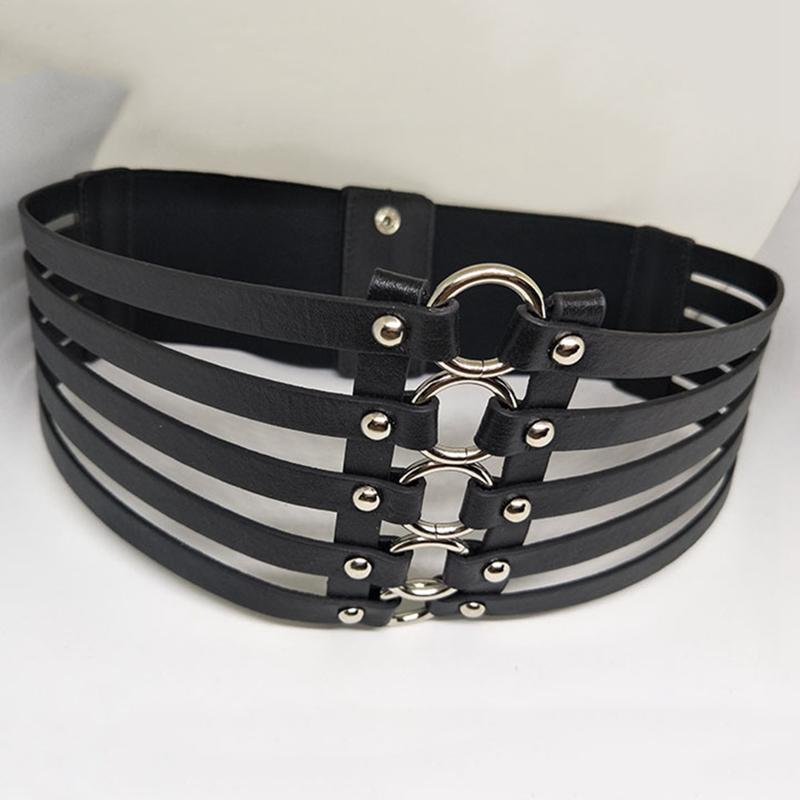 3e659cd3233 Women Metal Wide Belt Hollow Leather Girl Belt Alloy Elastic Lady  Multilayer Belts Vintage Leather Strap Buckle Kids Tool Belt Karate Belt  From Junemay