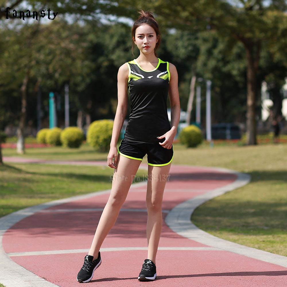 Compre Mujer Deportes Carreras Trajes   Juegos Marathon Loose Athletics Ropa  Niñas Correr Atletismo Trajes Ropa Running Kits Nuevo A  34.4 Del Vanesse  ... be8c397886ab1