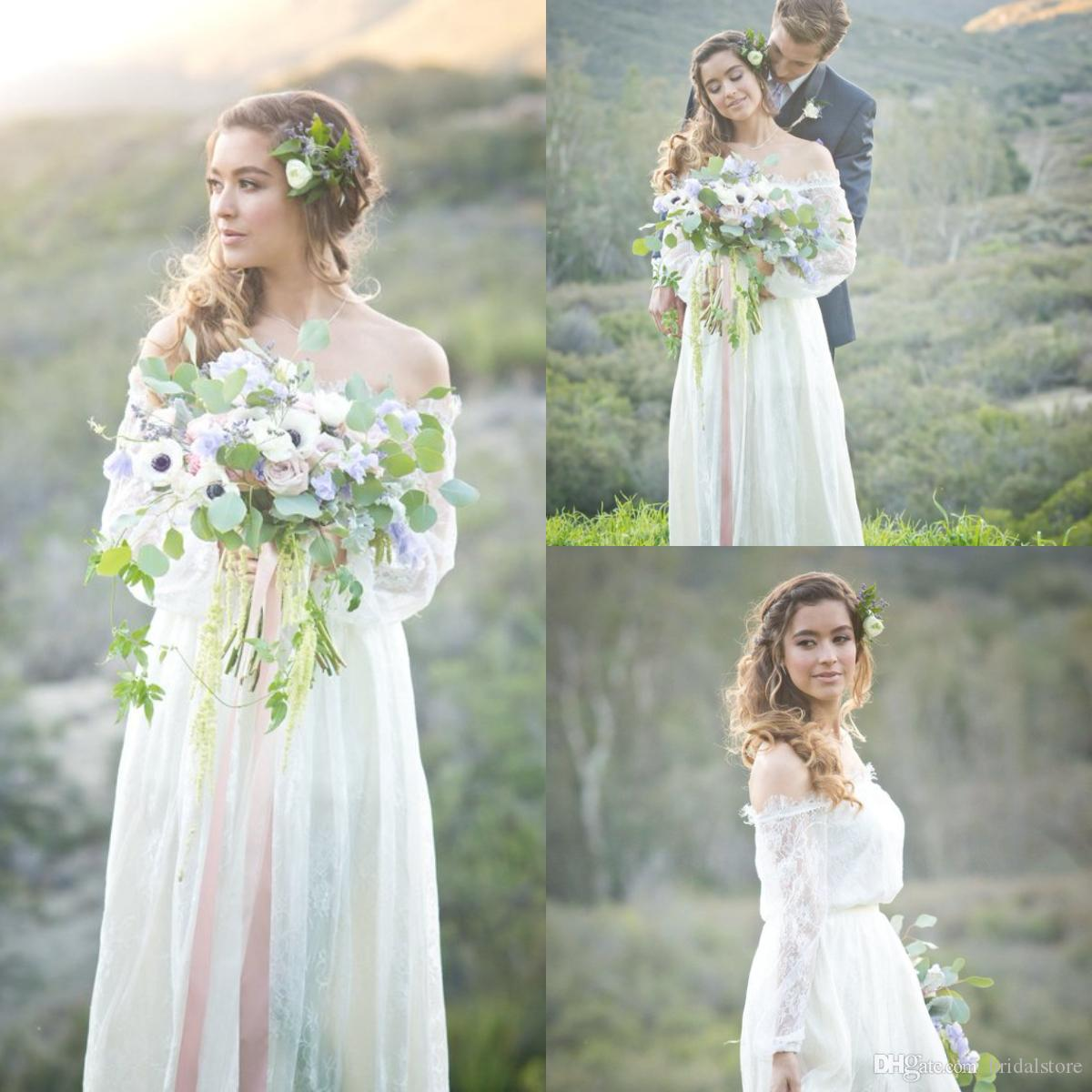 Vintage Rustic Bohemian Wedding Dress