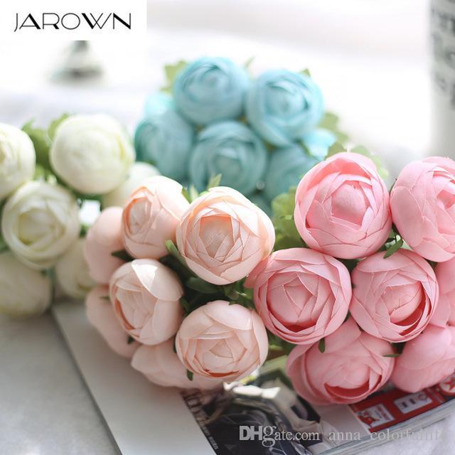 2019 Artificial Silk 1 Bunch Lotus Bridal Bouquet Fake Flower