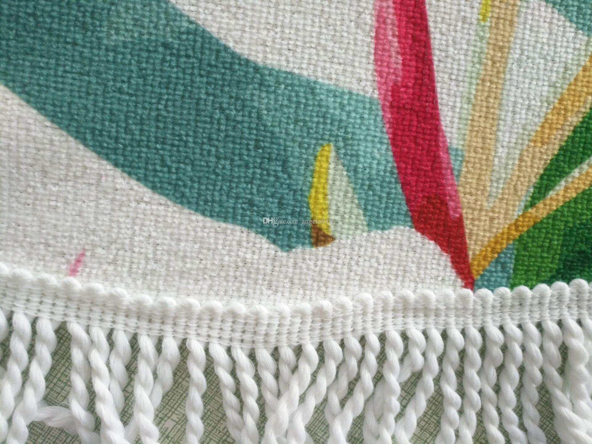 Serviette de plage Licorne 150 * 150cm serviettes de plage ronde 2018 serviettes de bain pour la piscine d'été dessin animé châle tapis de yoga 16 couleurs couverture bébé C3828