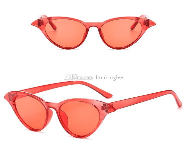 New Vintage Cat Eye Sonnenbrille Frauen Markendesigner Mode Vintage Runde Sonnenbrille Luxus Gläser Oculos De Sol Feminino 3282
