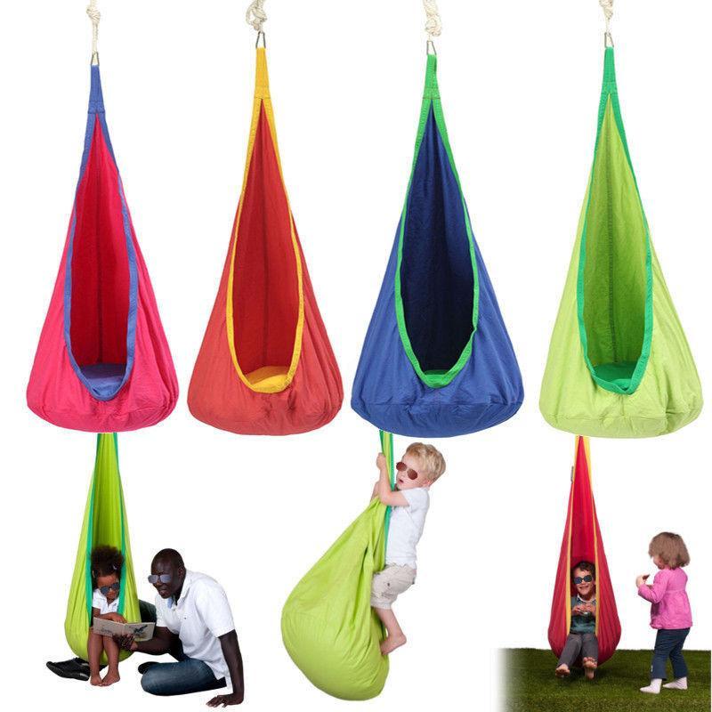 Children Hammock Inflatable Cushion Garden Swing Chair Indoor