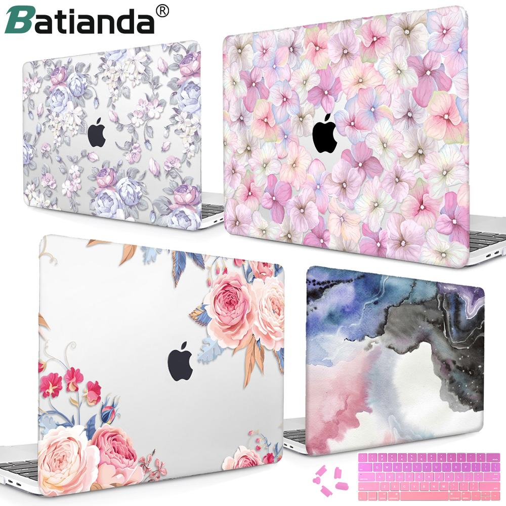 "Flower Print Case For Macbook 2018 Newest Version Hard Laptop Case For MacBook "" A1932 13 inch Retina Display"