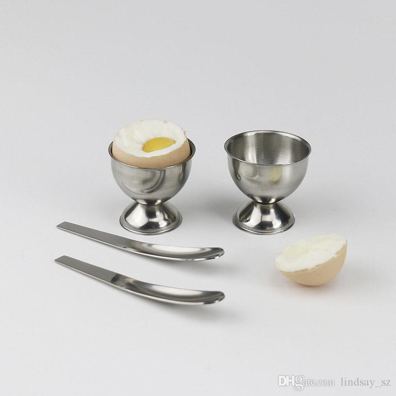 Stainless Steel Soft Boiled Eggs Holder Cups Egg Stand Storage Tray Tabletop Cup Egg Container Kitchen Accessories F20173303