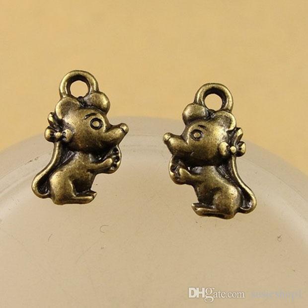 12 * 7 * 3mm Antik Bronz fare / fare charm kolye DIY el yapımı takı için iyi 1000 adet paket başına
