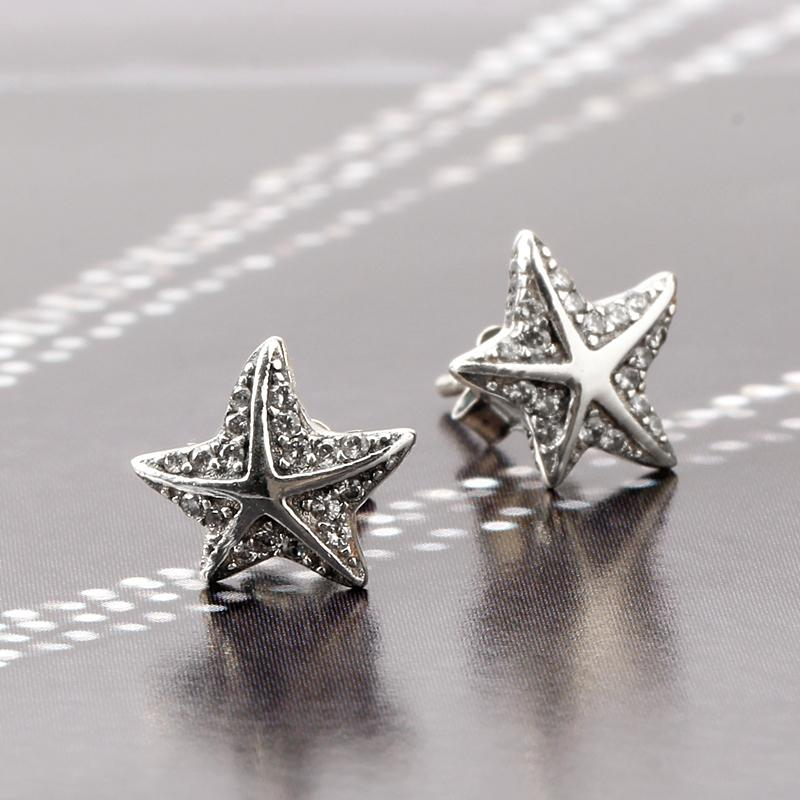 4bbfca055 2019 Hot Sale 925 Sterling Silver Star Tropical Starfish Stud Earrings  Clear CZ For Women Fashion Jewelry From Watchesgreat, $42.95 | DHgate.Com