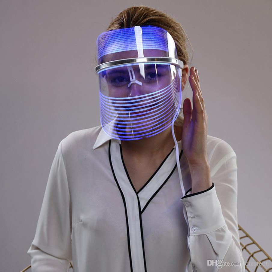 LED Facial Mask Home Use Face Beauty Instrument Light Therapy for Acne Treatment Wrinkle Remover Skin Rejuvenation