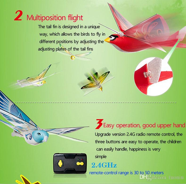 New Arrival Mini Foam Anti-Crash RC Drone TECHBOY 98007+ 2.4GHz RC Bird Remote Control Authentic E-Bird Flying Bird Aircraft Plane RC Toys