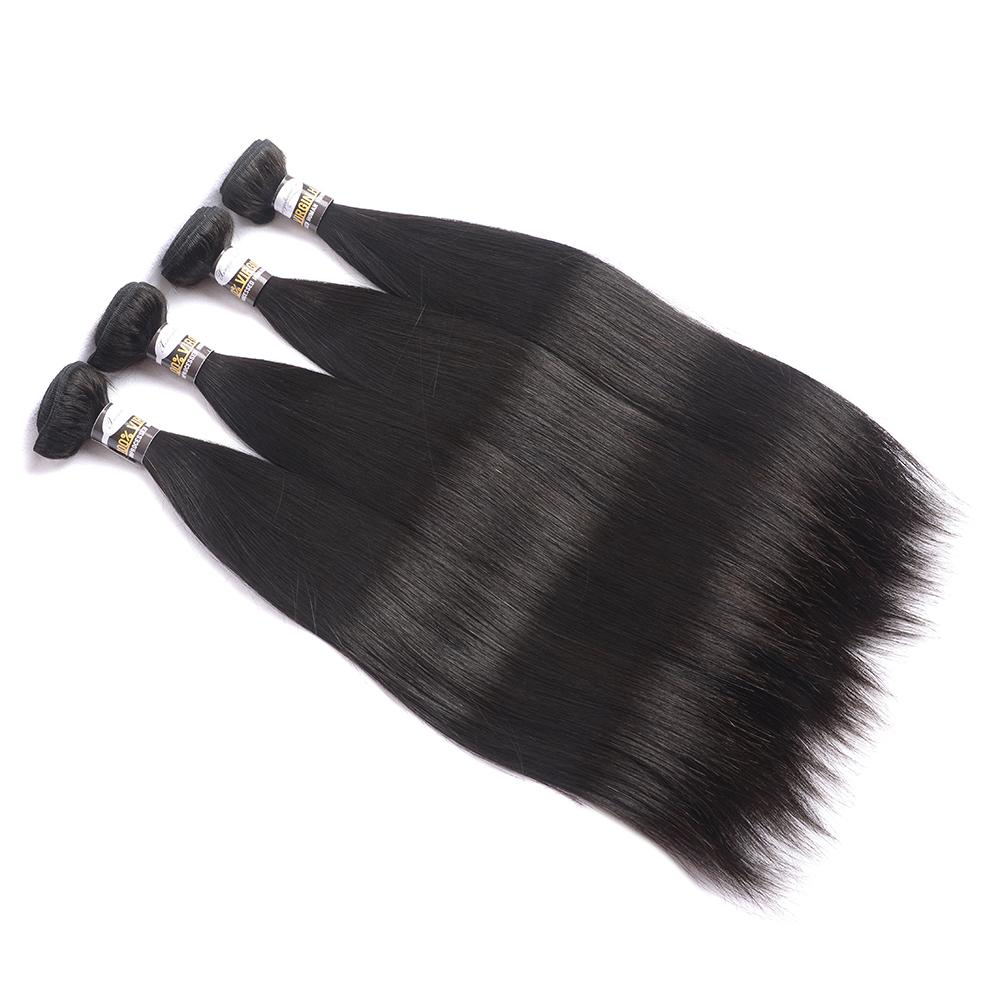 10A 100% Human Hair Bundles Brazilian Straight Hair Weave 8-28 Inches Natural Black Remy Hair Extensions