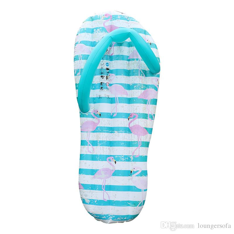 a515deb9d 2019 2018 Summer Fashion Inflatable Slipper Pool Floating Row Flamingo  Pattern Floats Safety Waterproof Water Mounts Hot Sale 37xy X From  Loungersofa