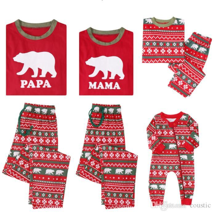 861ae60e14 2019 Family Christmas Pajamas Set Warm Adult Kids Girls Boy Mommy Sleepwear  Nightwear Mother Daughter Clothing Matching Family Outfits From Coustic
