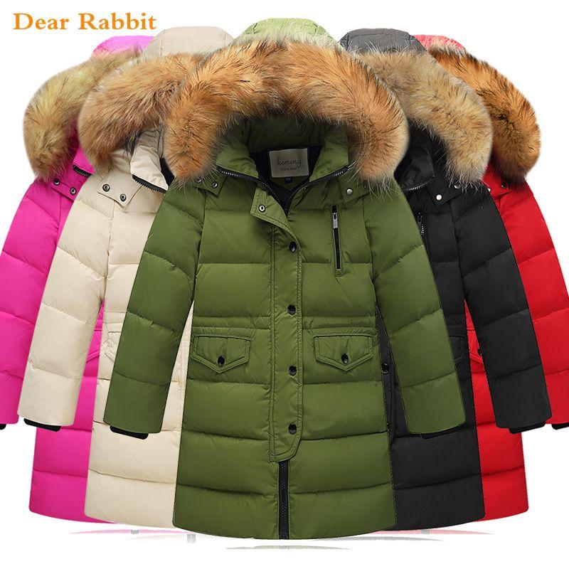 db296c91ee8e 2018 New Children Winter Duck Down Jackets Girls Clothing Thickening ...
