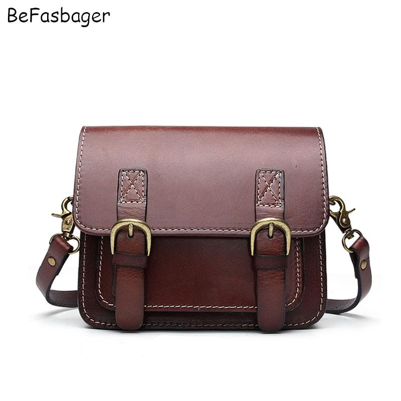 9431bb504fdb BEFASBAGER Mini Satchel Vintage Flap Over Womens Shoulder Bags Genuine  Leather Crossbody Purse Sling Bag Green Bags For Women Leather Satchel  Ladies Bags ...