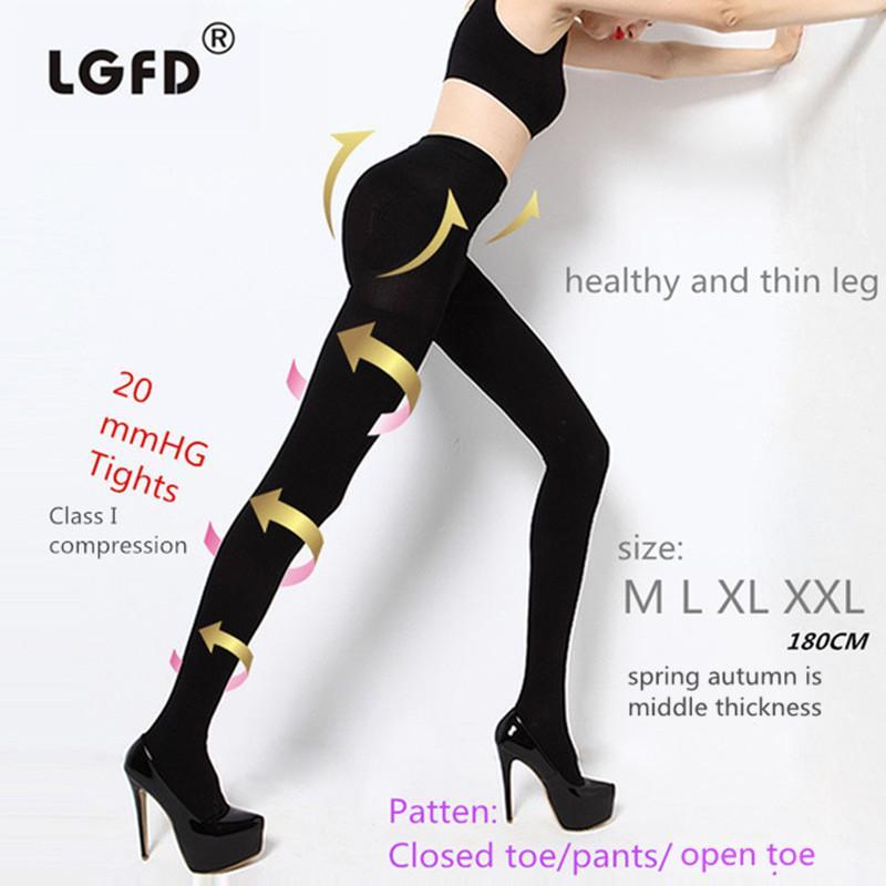cb6d4dc4e 2018 LGFD 680D 680 DEN moda mujer primavera otoño verano delgado  Pantimedias Terapia TOP quemar adiposo medias de compresión
