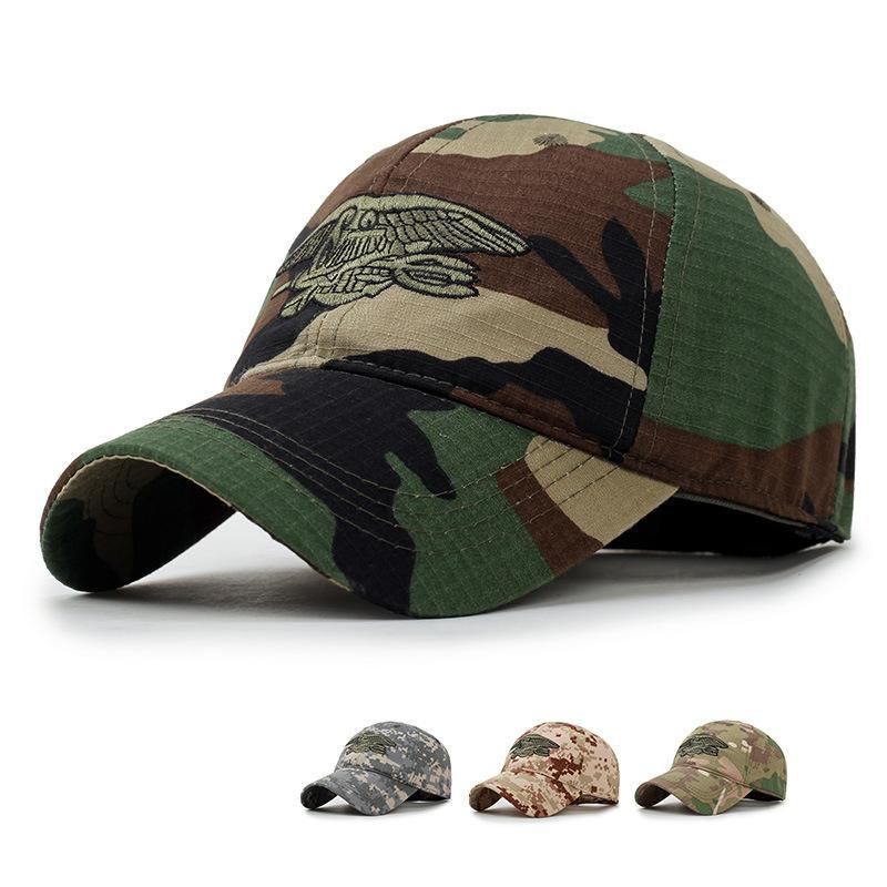 dc110f71ecd 2018 New Camo Flat Cap US Army Cap Men Baseball Cap Camouflage Mens  Snapback Bone Tactical Sport Hats For Adult H1121844 Ball Caps Fitted Caps  From ...