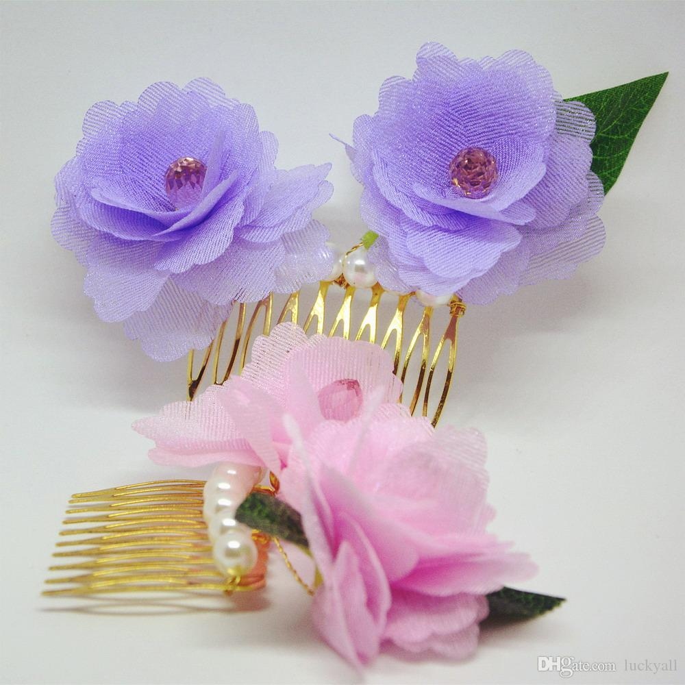 Roses wedding hair accessories wedding accessories bridal comb wedding headpiece lovely flowers combs for women or ladies