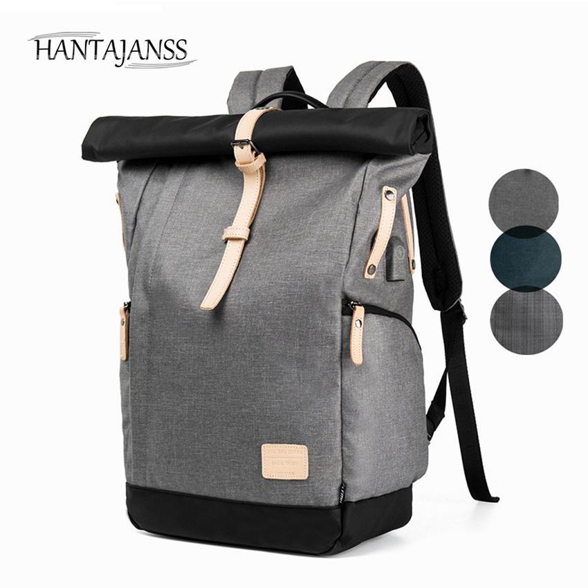 HANTAJANSS New Designer Backpack for Men Women Laptop USB Charging ... 4e4445c991868