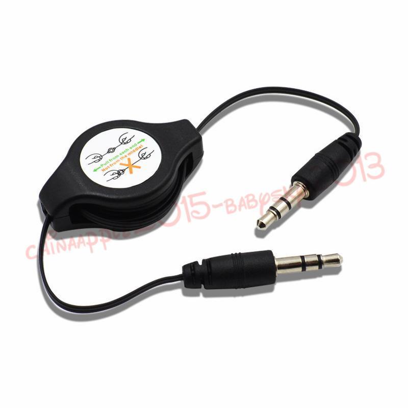 iphone mp3 hoparlör kulaklık için erkek Araç Ses Esnek Uzatma Kablosu Erkek Çekilebilir Aux Müzik Line 3.5 Jak erkeğe Stereo 3.5mm
