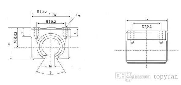 SBR20UU 20mm Linear Ball Bearing Block Open Linear Bearing Block CNC Router