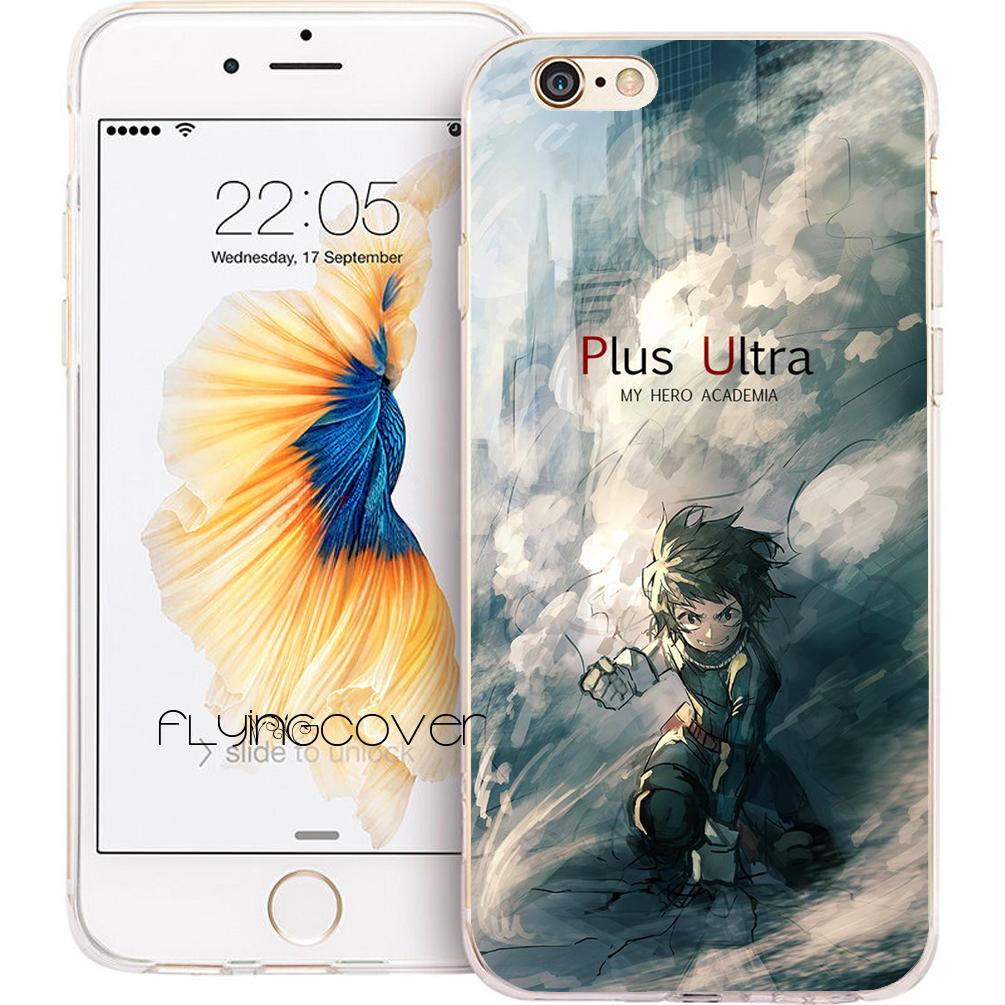 info for 7cdc5 fb1cc Fundas My Hero Academia Shell Cases for iPhone 10 X 7 8 Plus 5S 5 SE 6 6S  Plus 5C 4S 4 iPod Touch 6 5 Clear Soft TPU Silicone Cover.