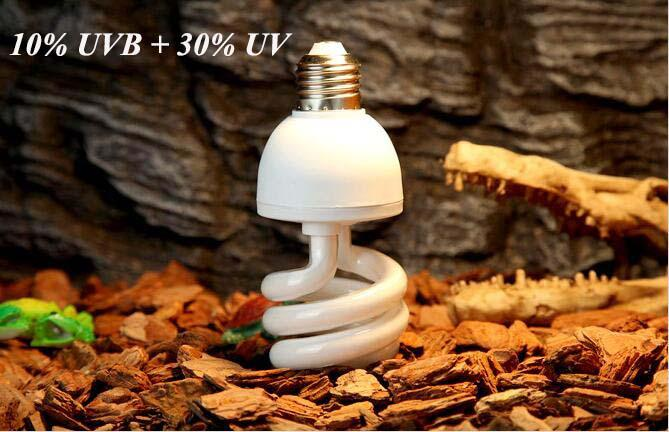2018 Reptile Compact Fluorescent Vivarium Lamp Light 10.0 Uvb Uva Uv ...