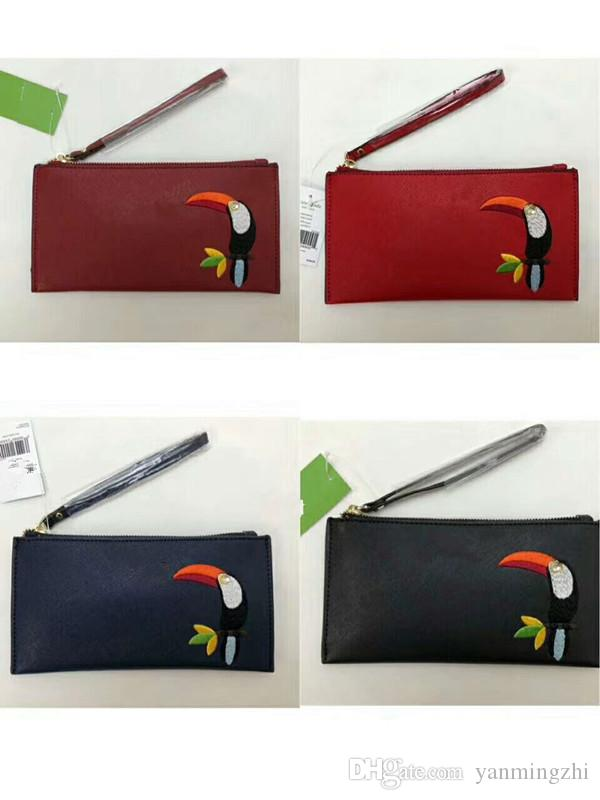 415177ef96f Brand Designer Women Toucan Leather Wallets Wristlet Purses Clutch Bags  Zipper Card Bag Online with  13.18 Piece on Yanmingzhi s Store   DHgate.com